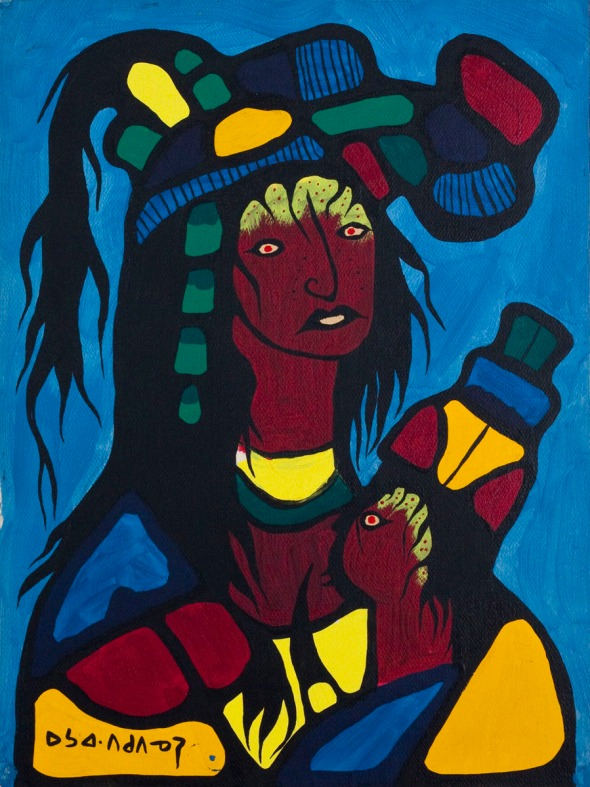 Norval Morrisseau_Madre y Bebé_Mother and Child_1969