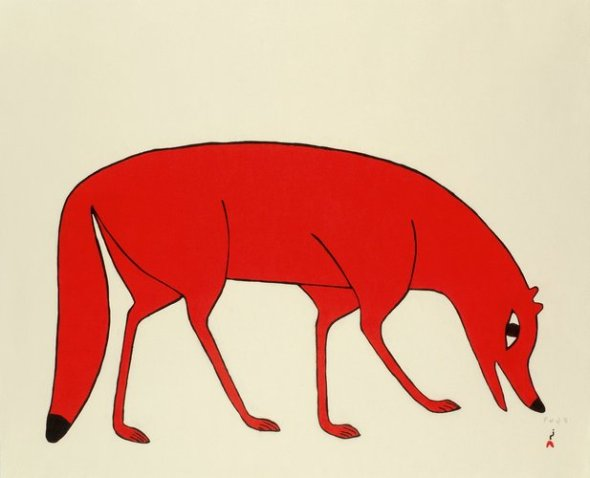 Kenojuak_Red Fox_stonecut_2012