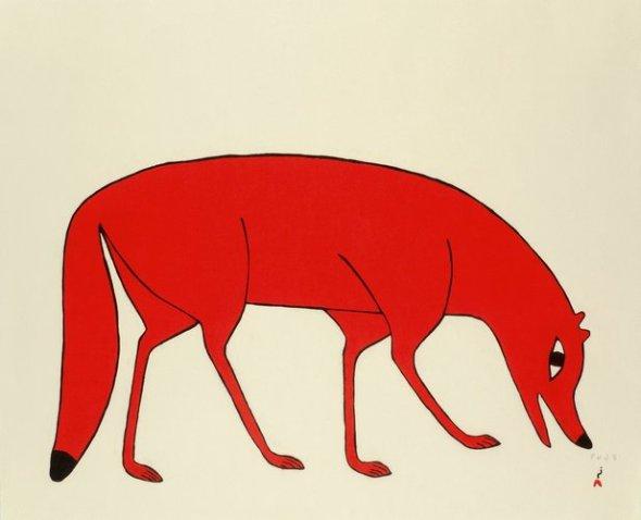Kenojuak_Red Fox_stonecut_2012