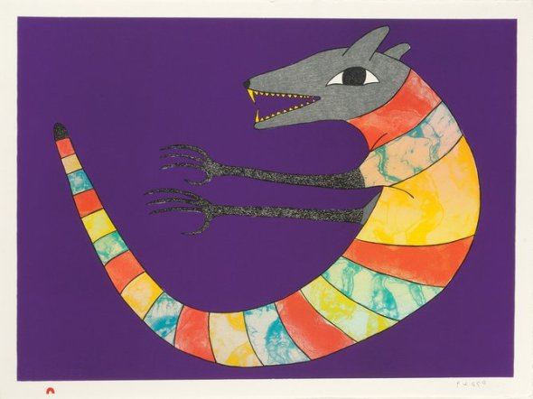 Kenojuak_Serpentine Wolf_lithograph_2013