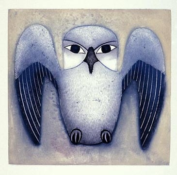Kenojuak_Silver Owl_aquatint_1999