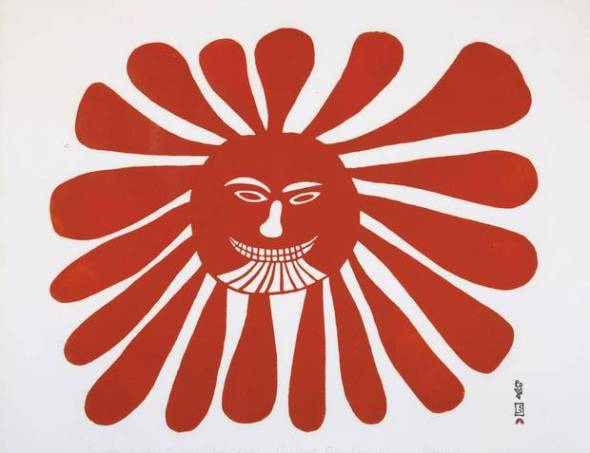 Kenojuak_The Woman who lives in the Sun_1960