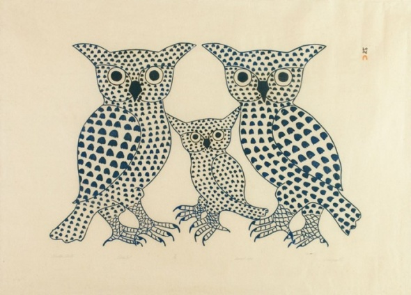 Kenojuak_Winter Birds_1975