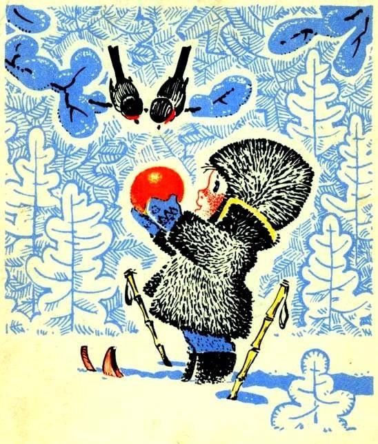 soviet era christmas greeting card from 1960
