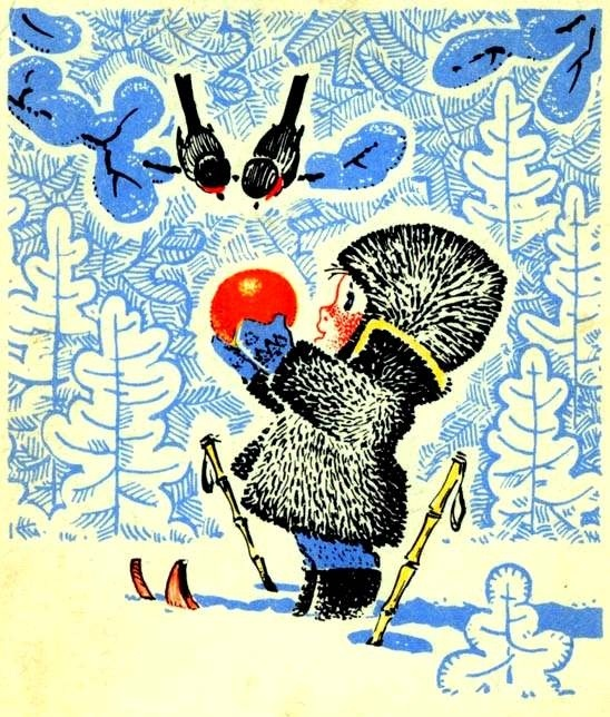Soviet-era Christmas greeting card from 1960