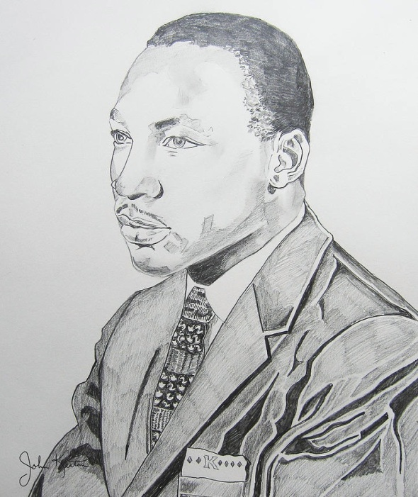 ZP_Portrait of Martin Luther King Jr._Pencil drawing on archival paper_© 2011 John Keaton