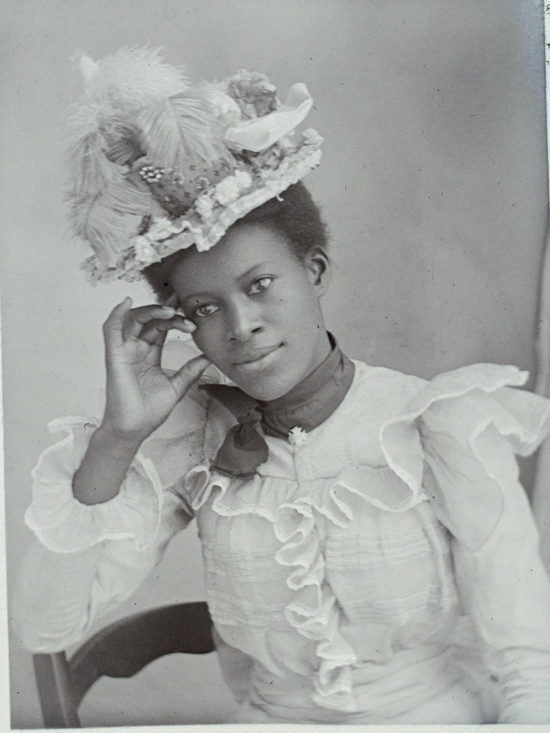 A young lady in her finery_perhaps around 1910_a vintage photograph of an unidentified beauty...