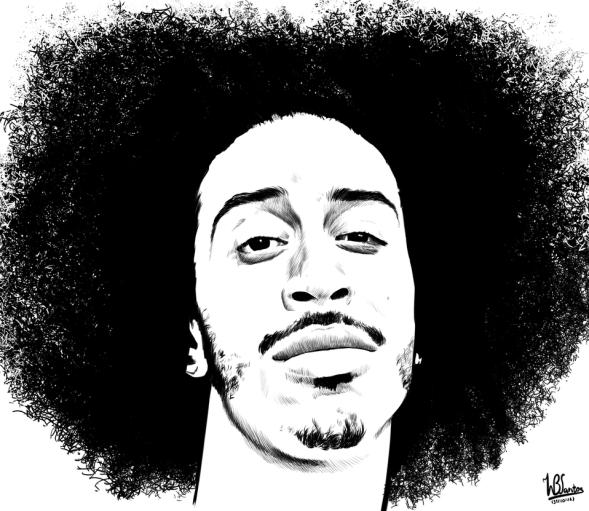 Computer Ink drawing of Ludacris by W.B.Santos