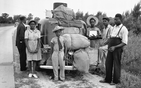 The family pictured here was part of The Great Migration:  African-Americans on the move from the rural South up or over to towns and cities of the North and MidWest. They wished to escape that Life of which Ma Rainey sang...