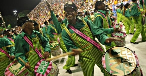 February 2013_a Mangueira bateria at Rio Carnaval