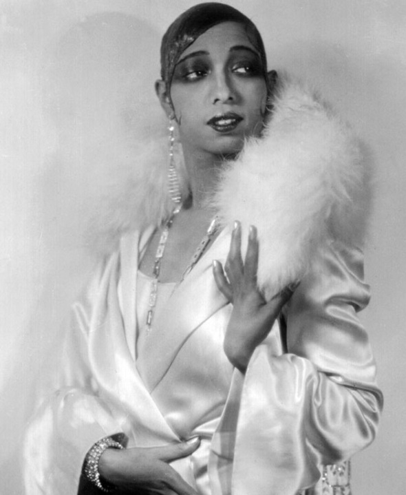 Josephine Baker in a typical glamour shot from the 1920s