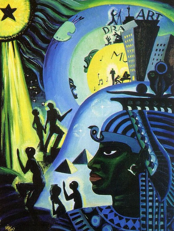Lois Mailou Jones_The Ascent of Ethiopia_Oil on canvas_1932