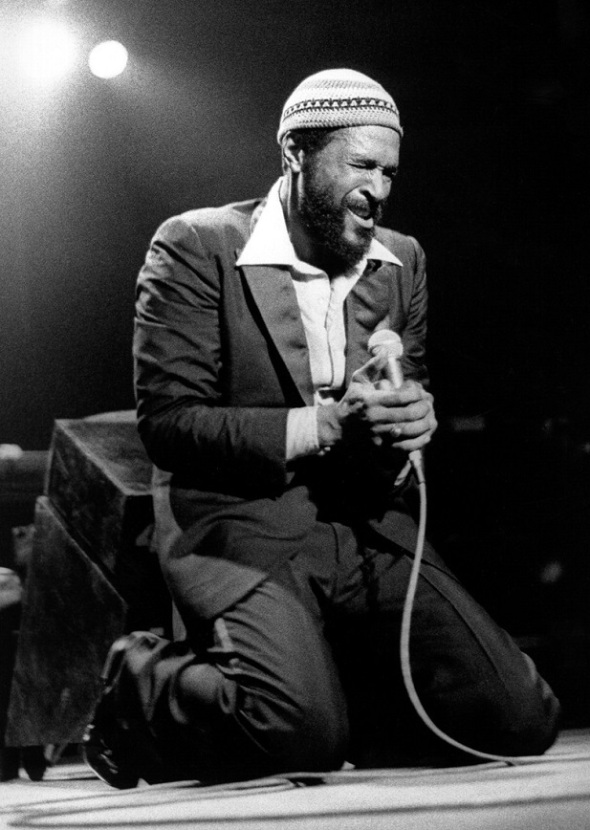 Marvin Gaye in a live performance