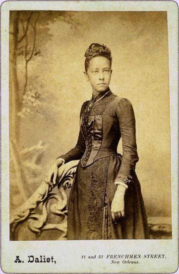 Photograph of a 19th century Creole woman