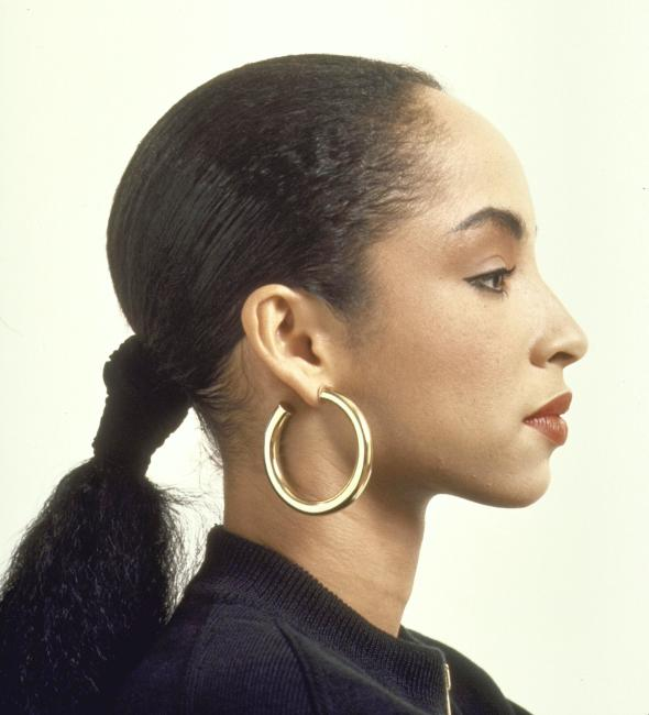 Portrait of British pop singer Sade