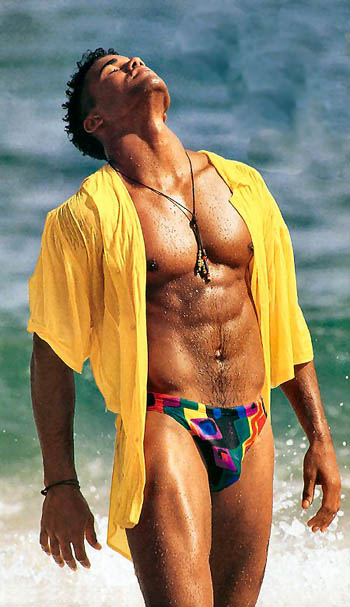 Shemar Moore when he was still a model_before he began to do TV