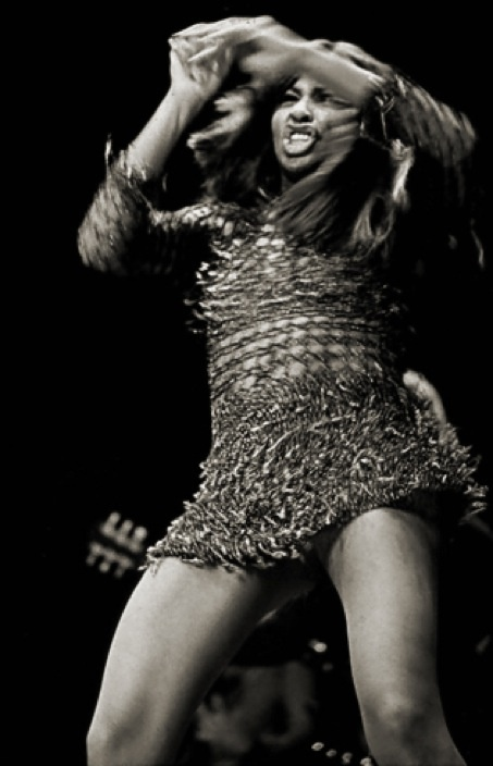 Tina Turner on stage in the early 1970s