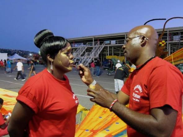 Trinidad Carnival 2014_Makeup application