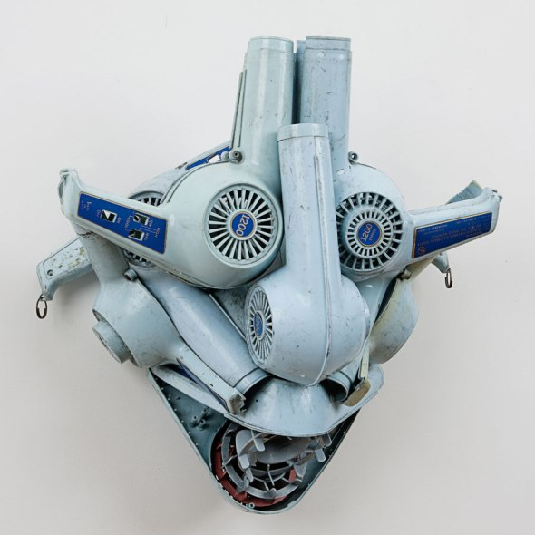 Willie Cole_Wind mask_assemblage with hairdryers_1991