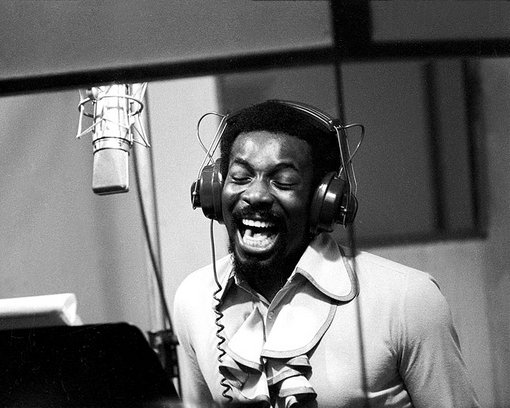 Wilson Pickett in the recording studio_early 1970s