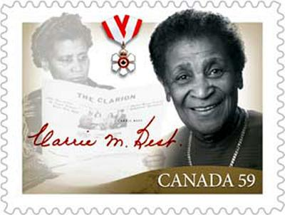ZP_Canada postage stamp recognizing Carrie Best_February 2011