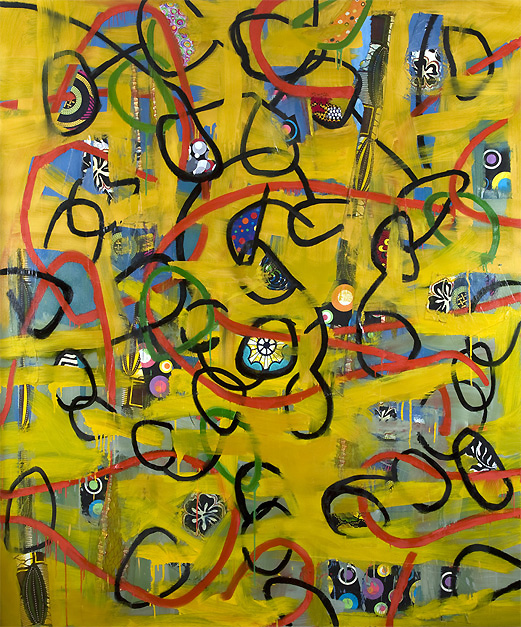 Danny Simmons_Loopy Loo_Oil on canvas_2013