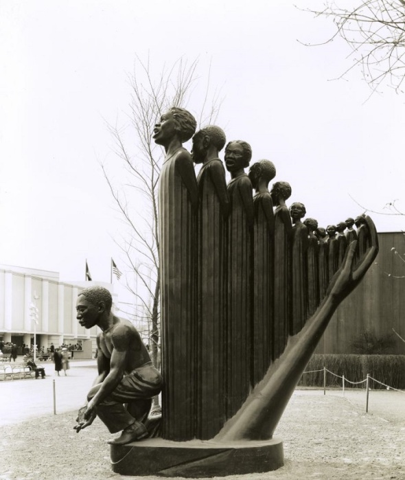 The Harp by Augusta Savage, displayed at the 1939 World's Fair in New York City