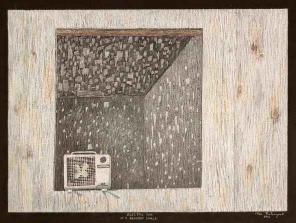 Itee Pootoogook_Electric fan in an abandoned shack_2012