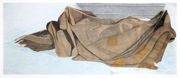 Itee Pootoogook_Frozen Tarp_coloured pencil_2013