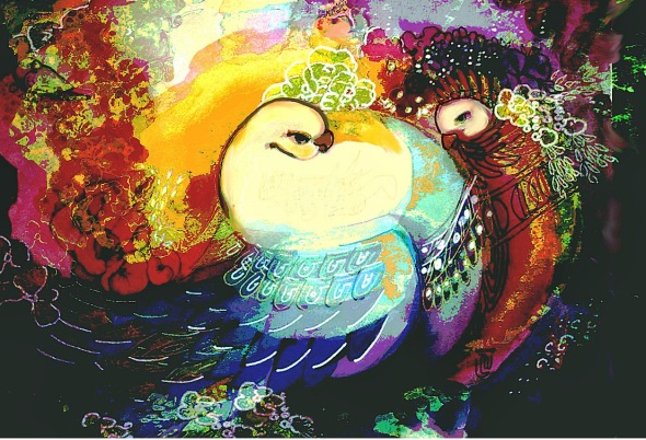A painting by Guity Novin_artist poet and translator_visit her site at Artreact. blogspot