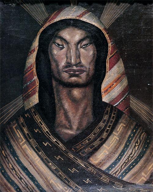 Cecilio Guzmán de Rojas_pintor boliviano_Cristo aimará_Aymara Christ_1939
