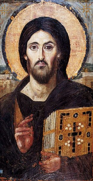 Christ the Saviour_Pantokrator_a 6th century icon from St. Catherine's Monastery_Mount Sinai, Egypt