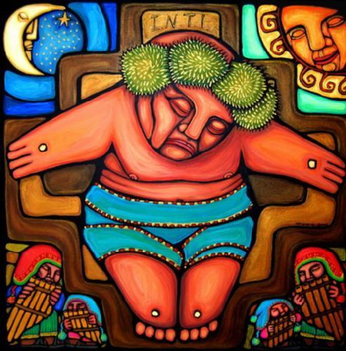 Cristo indígena_America del Sur
