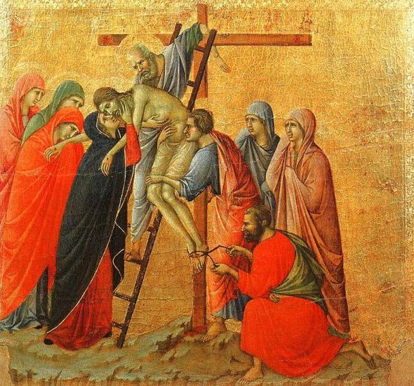 Duccio di Buoninsegna_Deposizione dalla Croce_Descent from The Cross, 1311