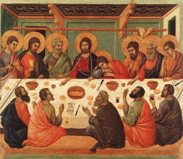 Duccio di Buoninsegna_The Last Supper, painted in 1311
