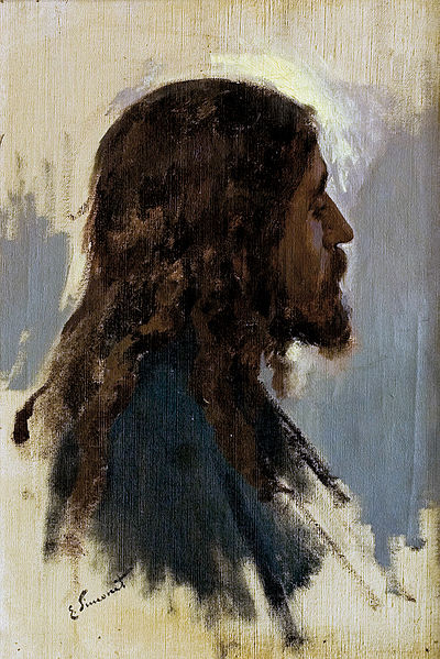 Enrique Simonet_Cabeza de Jesús_Head of Jesus_Deep in Contemplation_1891