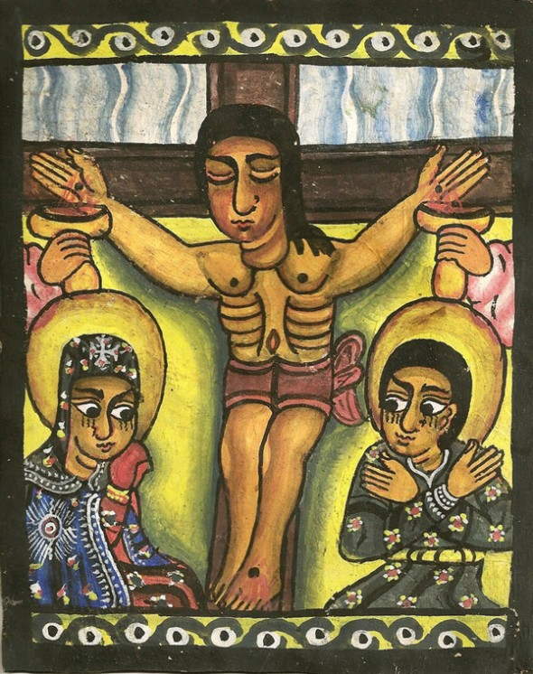 Ethiopian Crucifixion painting_Artist unknown