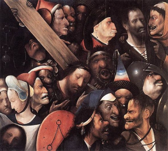Hieronymus Bosch_Christ carrying The Cross_oil on panel_painted between 1510 and 1535