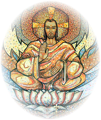 Jesus as अवतार (avatāra) and guru_mosaic depiction from India