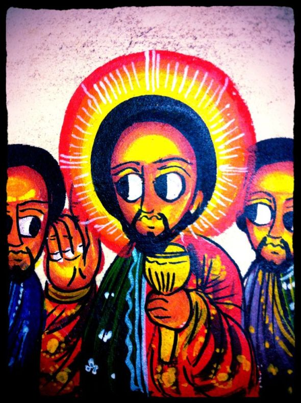 Luke 22: verses 19-20_This do in remembrance of me_Ethiopian painting