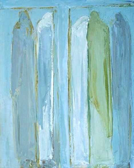 Macha Chmakoff_At the foot of The Cross_Abstract painting based on John 19:  verses 25- 27_The women gathered at the cross included Mary, mother of Jesus and Mary Magdalene.