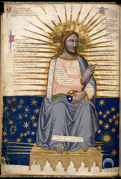 Pacino di Bonaguida_Christ Enthroned_14th century