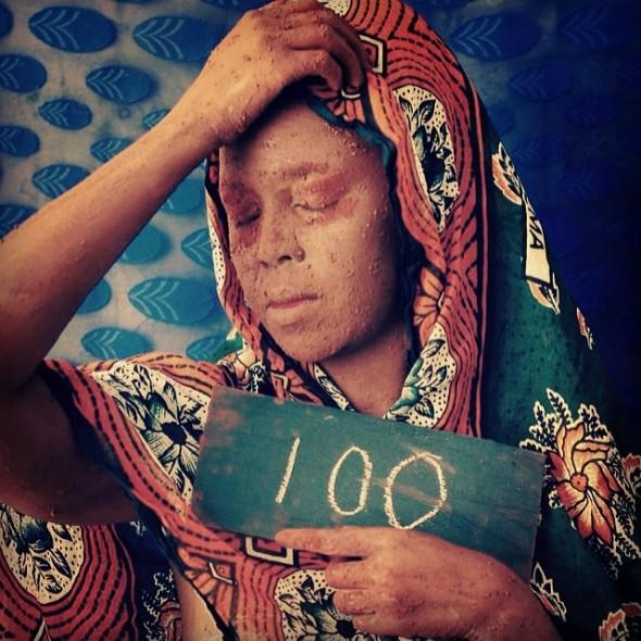 Wangechi Mutu_Day 100_Rwanda Genocide 20th anniversary_April 6th, 2014