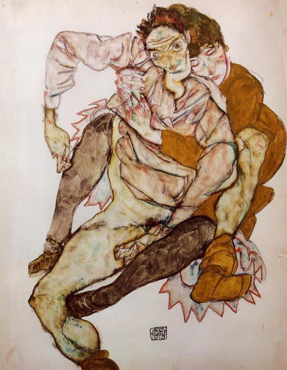 Egon Schiele_O Abraço_The Embrace_1915