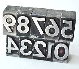 Vintage typesetters blocks_zero to nine