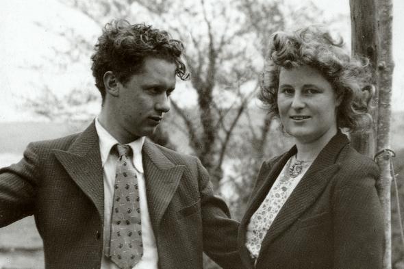 Dylan y Caitlin Thomas