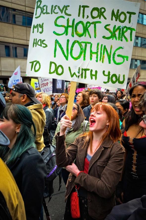 SlutWalk marchers
