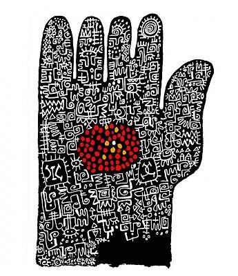 Victor Ekpuk_Hand painting with glyphs
