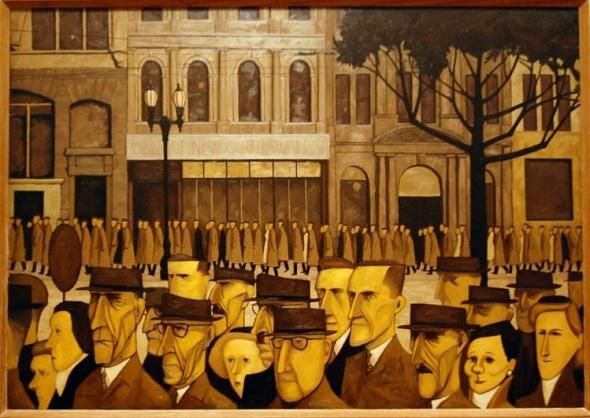 John Brack_Collins Street, 5 p.m._1955