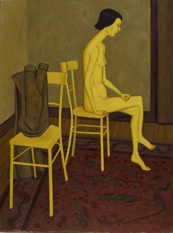 John Brack_Nude with two chairs_1957